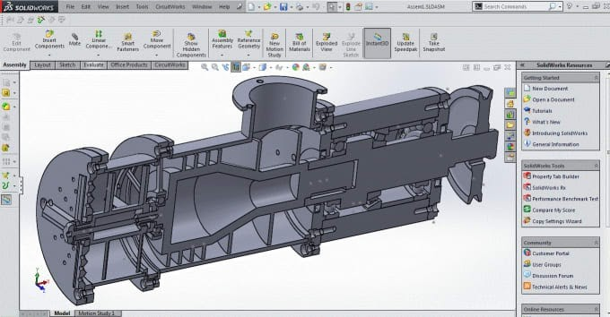 CAD model for CNC prototyping
