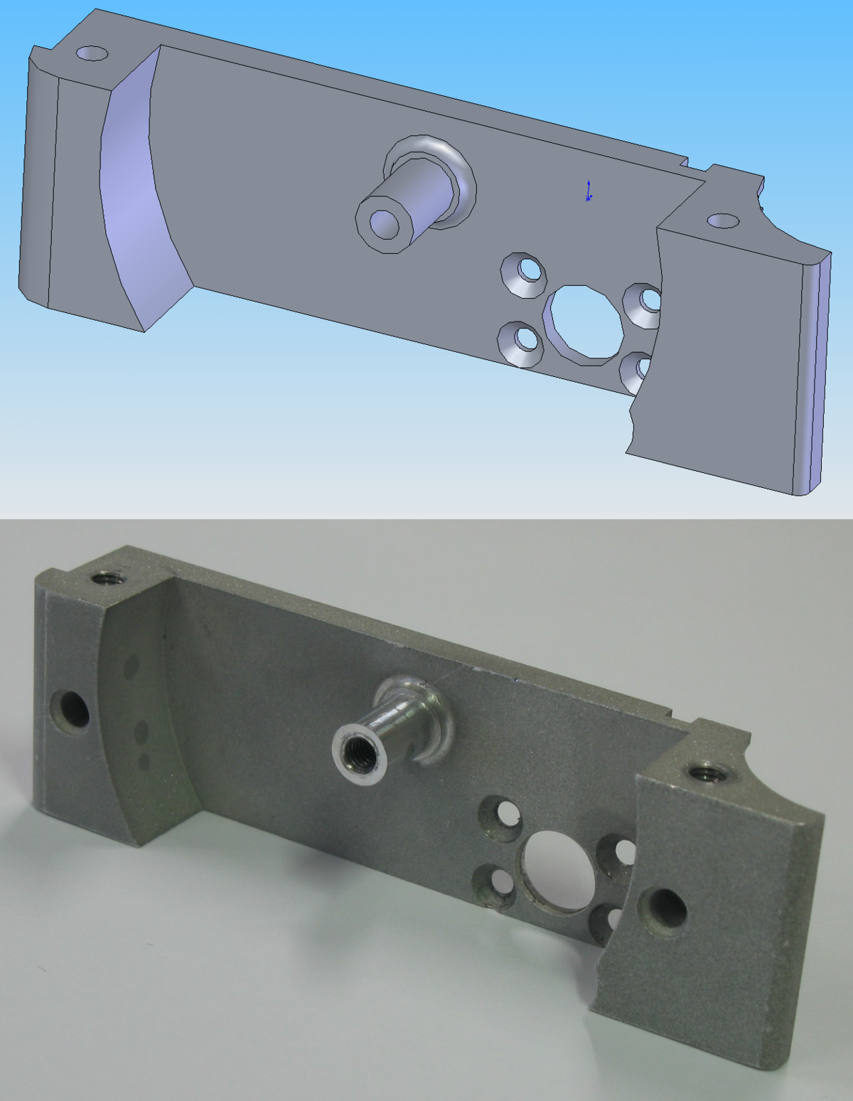 CAD design machined for CNC prototyping