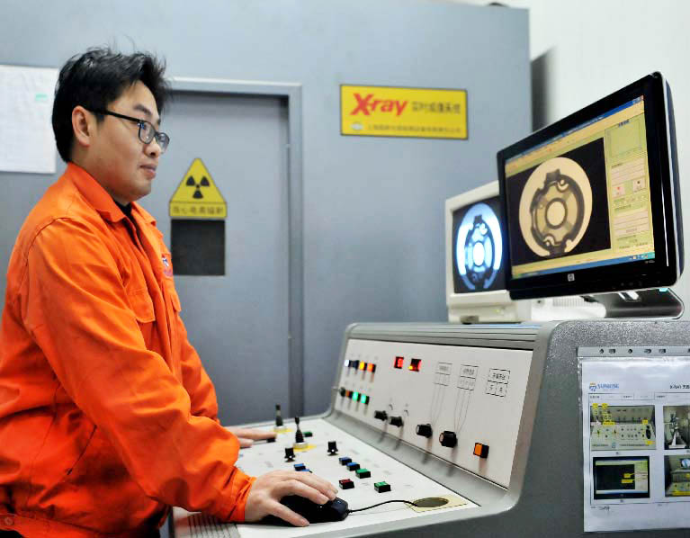 X-Ray Equipment to check inside of metal parts