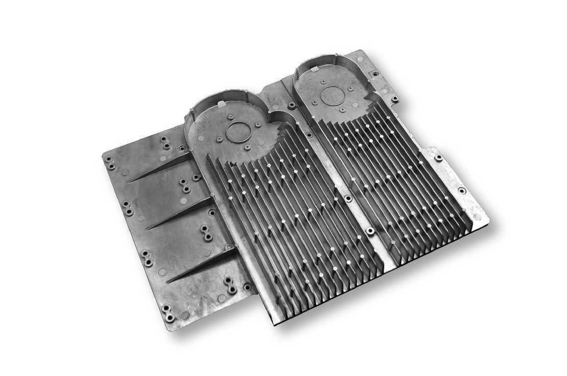 Aluminum die casting part-Circuit board heat sink for medical sector