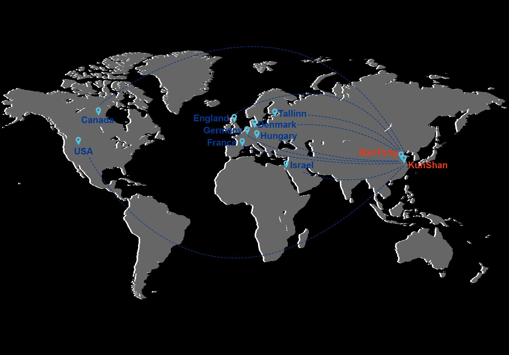 sunrise metal's exporting map