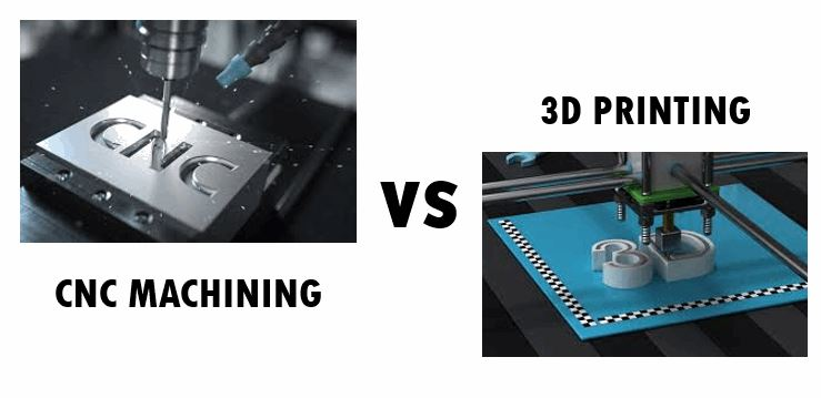 Difference between CNC Machining and 3D Printing