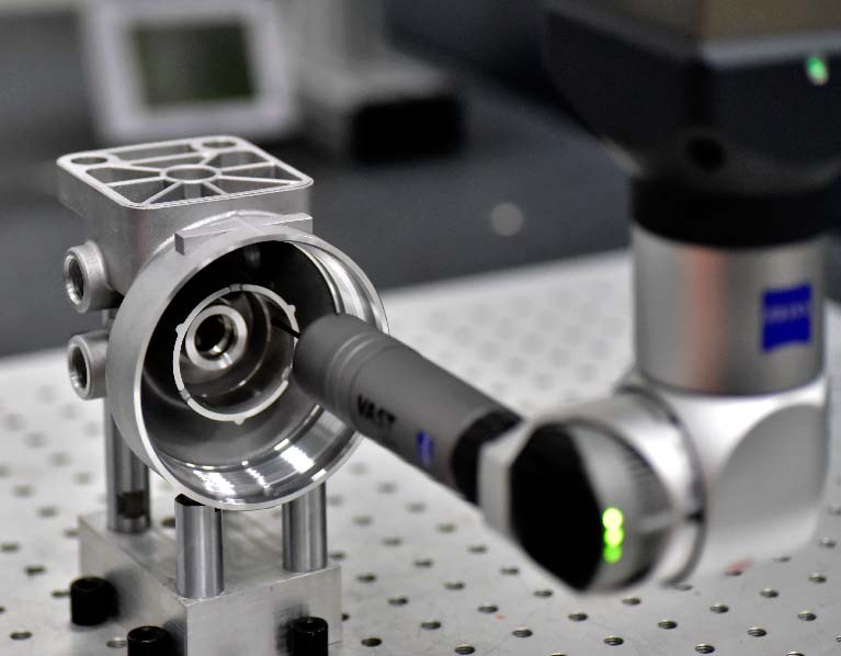 Inspect rapid tooling parts by Zeiss-CMM