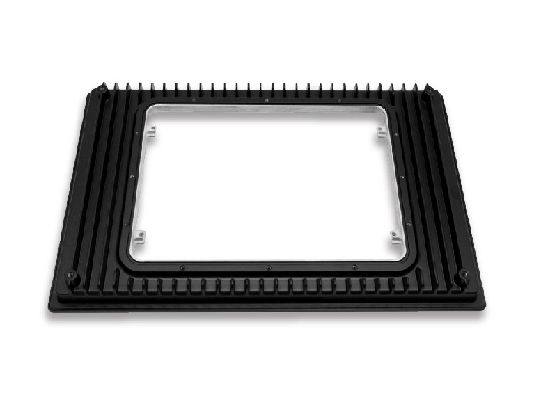 Custom-Aluminum-CNC-Milling-Display-Frame-with-Black-Coating-Machining-Service-Project