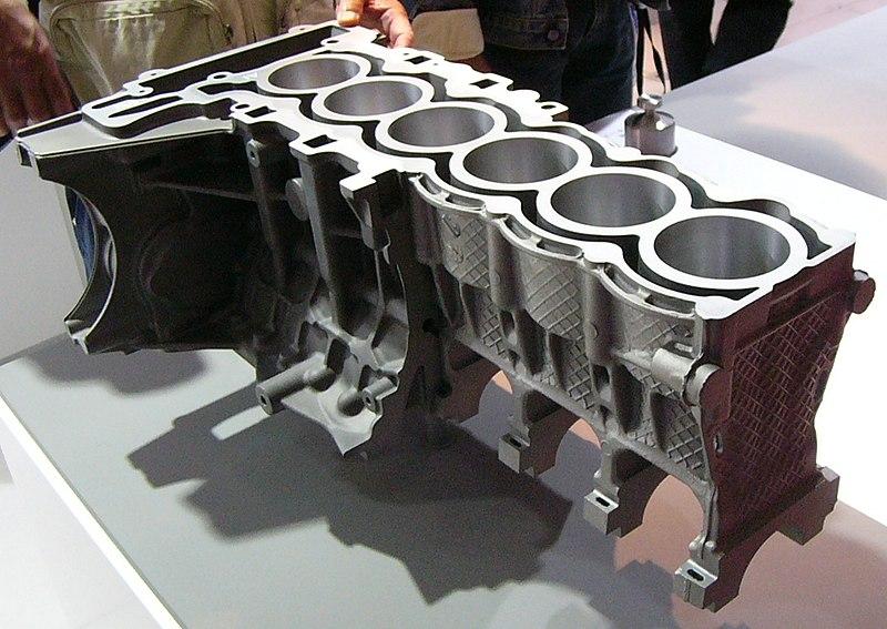 aluminium and magnessium die cast engine block sample