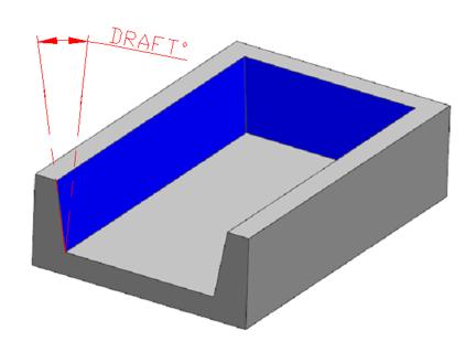 Draft in an Aluminum Die Casting Part's Design-
