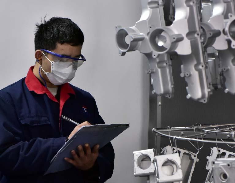 Production-quality-inspection-for-shot-blasting-Low-Volume-Die-Casting