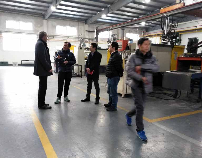 Swiss-Customer-Visit-Sunrise-For-Telecom-Components-Low-Volume-Die-Casting