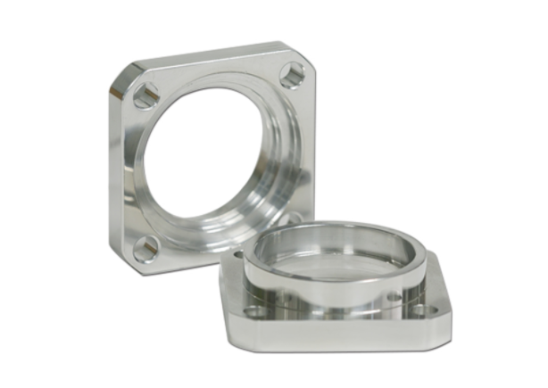 polished cast aluminum bearing housing