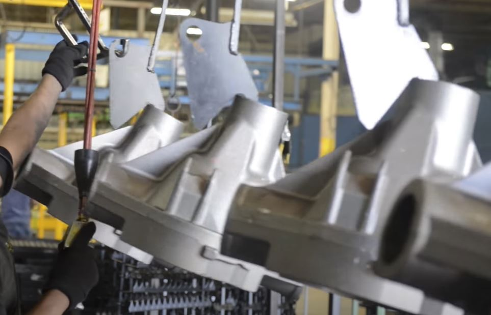Hanging Aluminum Parts on the E-Coating Line